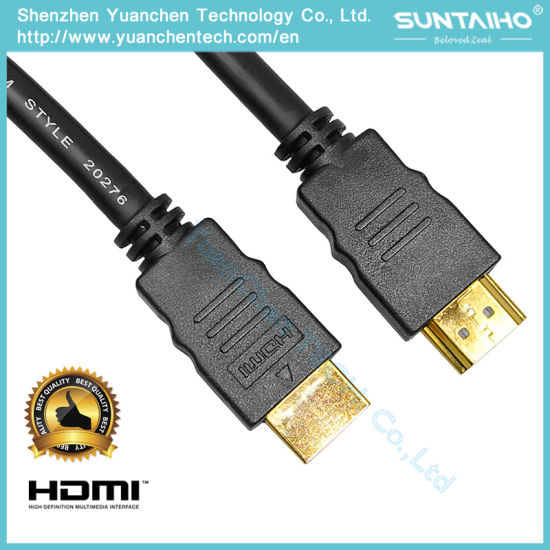 High Speed 24k Gloden Plated HDMI Cable 1.4/2.0V with Ethernet for 3D pictures & photos