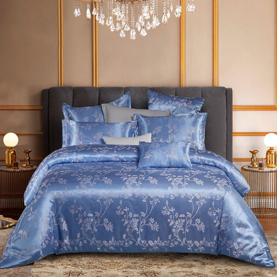 China Jacquard Bedding Set Queen Size Home Bed Sheet Luxury