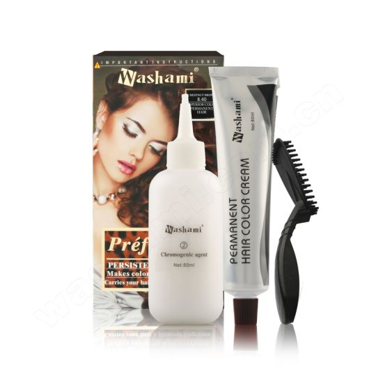 Washami Professional Dye Cream Permanent Hair Color pictures & photos