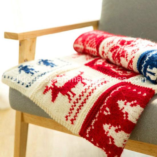 China Classic Handmade Hand Knit Blanket Wool Throw Fair Isle ...