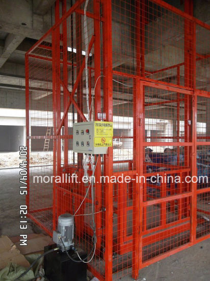 Hydraulic heavy loading vertical cargo platform pictures & photos