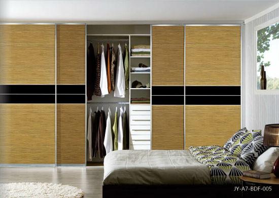 New Melamine Mdf Sliding Door For Bedroom Furniture Jy A7 Bdf 005
