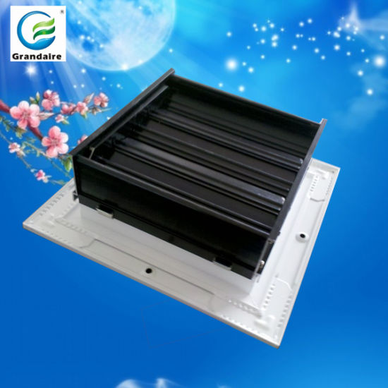Square Ceiling Air Diffuser With Volume Control Damper