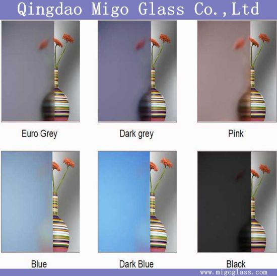 2-12mm Decorative Euro Grey/Dark Grey/Pink/ Blue/ Dark Blue Acid Etched Frosted Glass pictures & photos