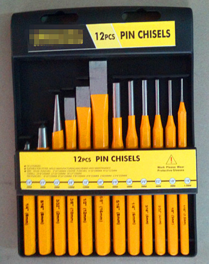 12PCS Cold Pin&Punch Set in a Plastic Shelf (PC-1)