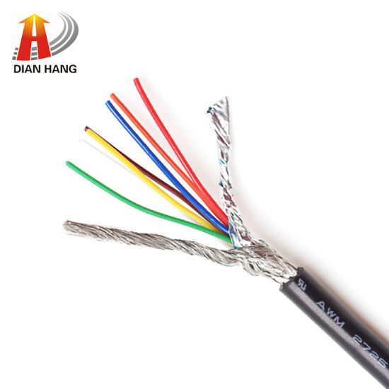 30V Awm UL2725 Shielded Control Cable Power USB Electronic Cable Wire PVC Copper Electronic Wire Data Flexible Electric Copper Wire
