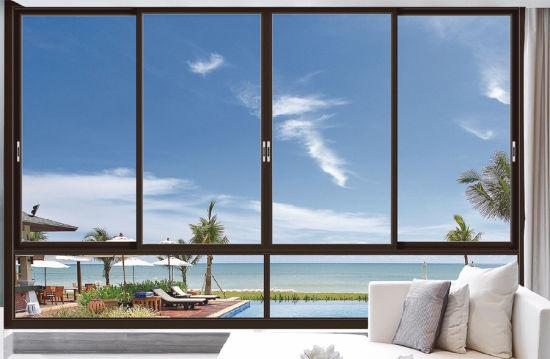 Aluminium Profile Aluminum Sliding Window Glass with High Quality Hardware
