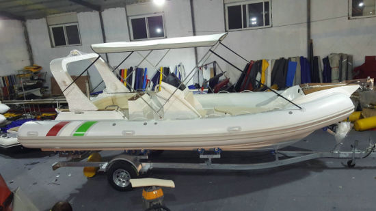 Haoyu 22.3feet Rib680 Boat Inflatable Boat Fishing Boat Rigid Boat with Hypalon or PVC