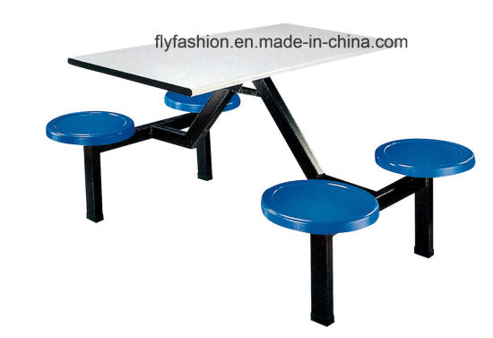 Competitive Price School Furniture, High Quality School Dining Table and Chair Made in China (DT-04)
