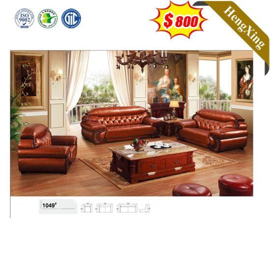 Seater Antique Leather Sofa Set, Antique Living Room Furniture