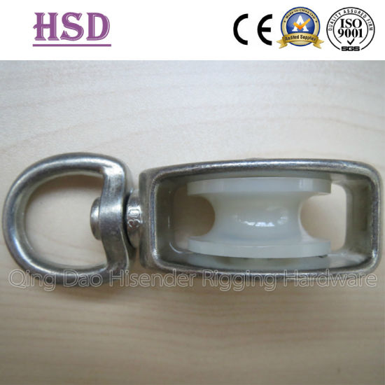 Pulley with Plastic Wheel Eye Swivel Type, Single Pulley, Double Pulley