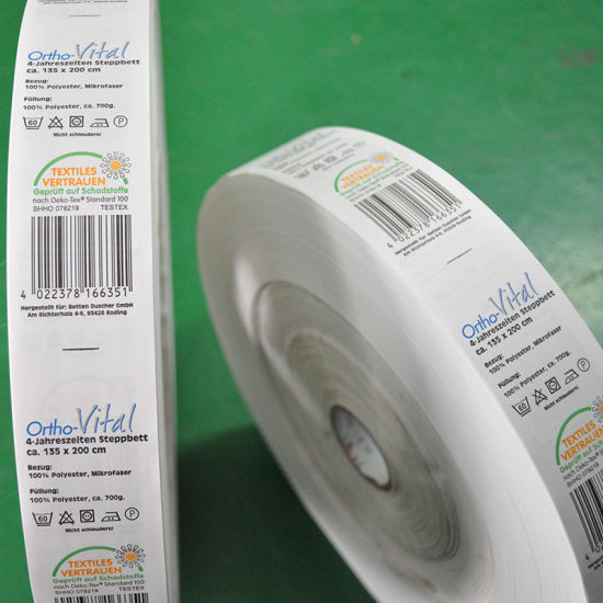 Single-Side Satin Printing Wash Label /Care Label for Sale pictures & photos