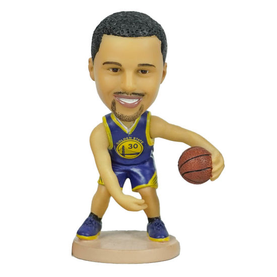 12 Cm Polyresin Famous NBA Baller Stephen Curry Bobble-Head