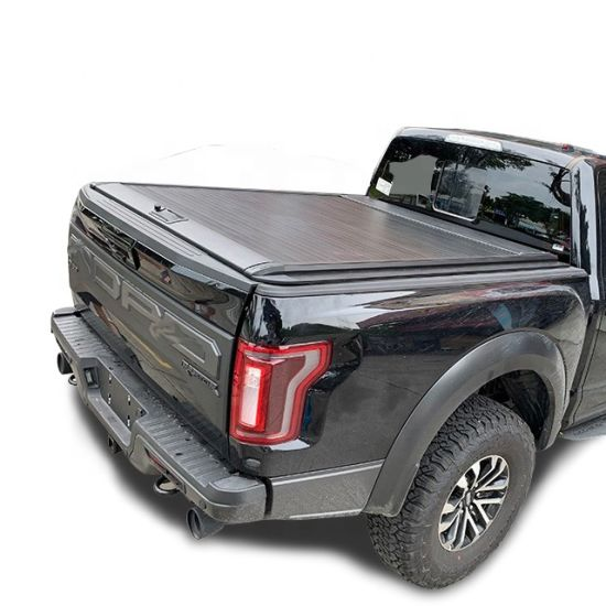 Aluminum Hard Retractable Manual Pickup Bed Cover Tonneau Cover for Dodge RAM 1500 5.5FT with Double Safety Lock