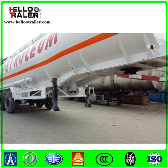 3axle 45000liters Carbon Steel Oil Fuel Diesel Tank Semi Trailer for Sale pictures & photos