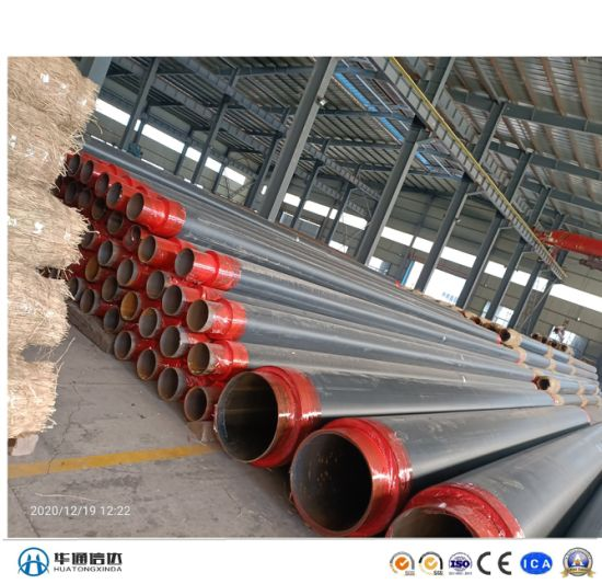 Underground Thermal Insulation Steel Pipe Withpolyurethane Foam and HDPE Jacket for Chilled Water Gas Oil Project