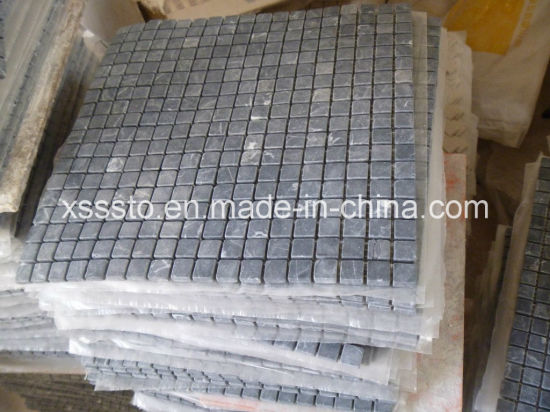 Nero Marquina Marble Mosaic on Mesh pictures & photos