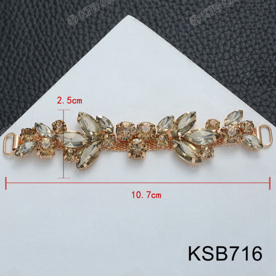 a834140e11fd5 China Factory Direct Gold Ab Rhinestone Sandal Buckles Women Shoes ...