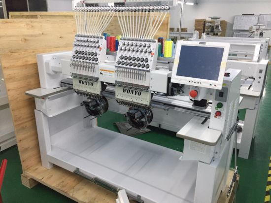 New, 2 Heads Compact Embroidery Machine for Cap, T-Shirt and Finished Garments pictures & photos