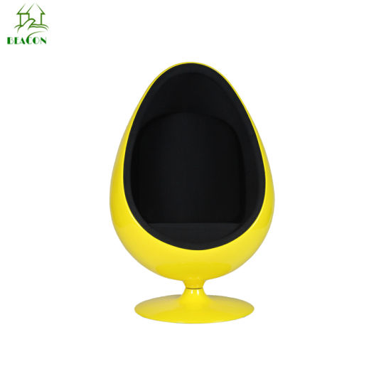 Swivel Wool Fabric Oval Shape Egg Pod Lounge Chair for Living Room