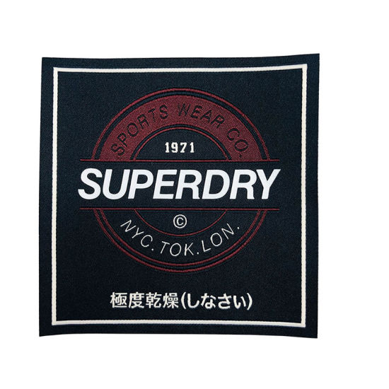 Eco-Friendly Custom Silk Screen Printed Brand Logo Fabric Cut Cotton Woven Labels for Overcoats
