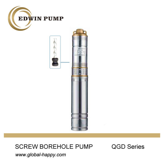 Screw Borhole Submersible Water Pump pictures & photos