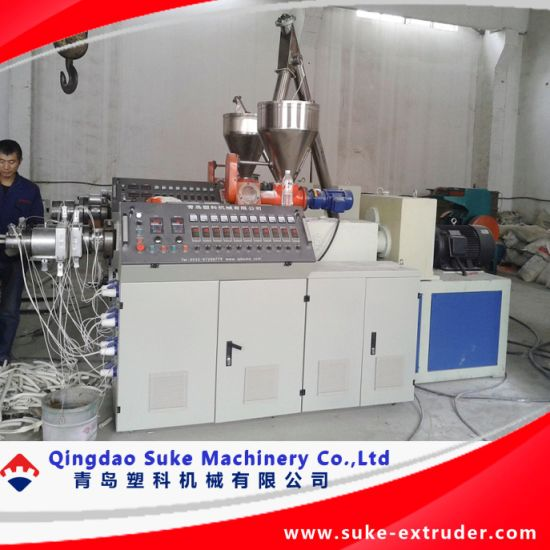 PVC Double Pipe Making Machine (SJSZ51X105) pictures & photos