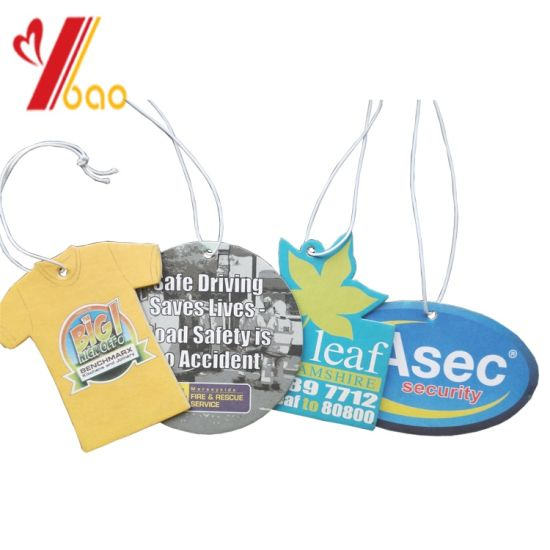 Hot Selling Long Lasting Scent Custom Logo Hanging Car Accessories Paper Air Fresheners for Promotional Gifts (YB-AF-79) pictures & photos