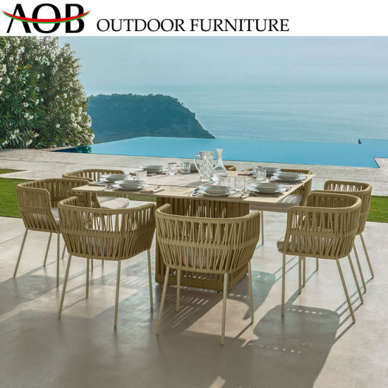 Magnificent 8 Seater Chinese Hot Sale Aluminum Outdoor Garden Furniture Dining Chair And Table Theyellowbook Wood Chair Design Ideas Theyellowbookinfo