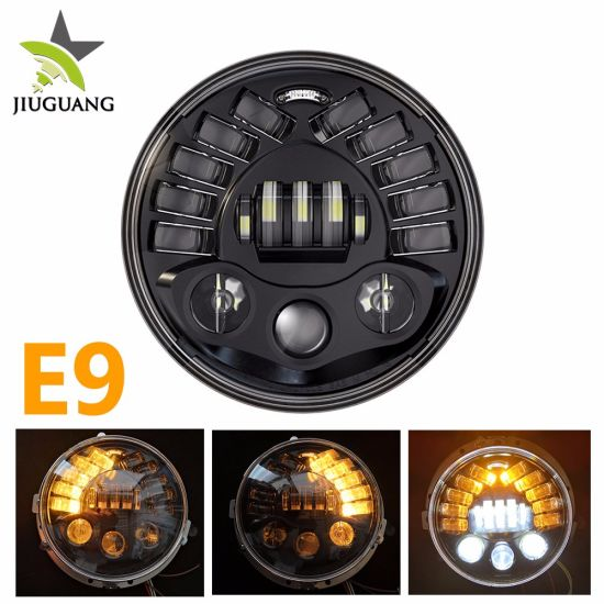 Auto Lighting System 12V 108W Left Right Driving Light Amber 7inch Motorcycle Car Round LED Projector Headlight pictures & photos