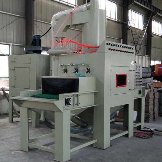 Small Automatic Abrasive Blast Cabinet Conveyor Belt Blasting Machine
