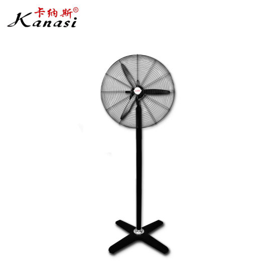 """Kanasi 500 650 750 mm 20 26 30 """" Inch OEM Ox Electric Industrial Pedestal Stand Fan with Plastic Blade"""