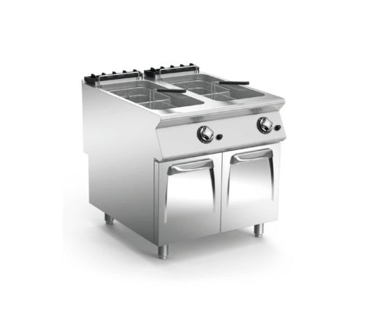 Commercial Western Style 2 Baskets Stainless Steel Fryer