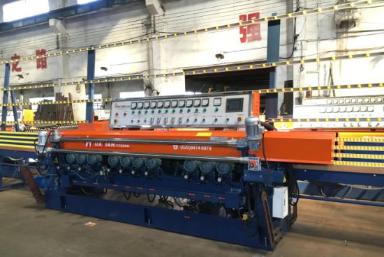 10 Spindles Flat Straight Line Beveling Glass Machine