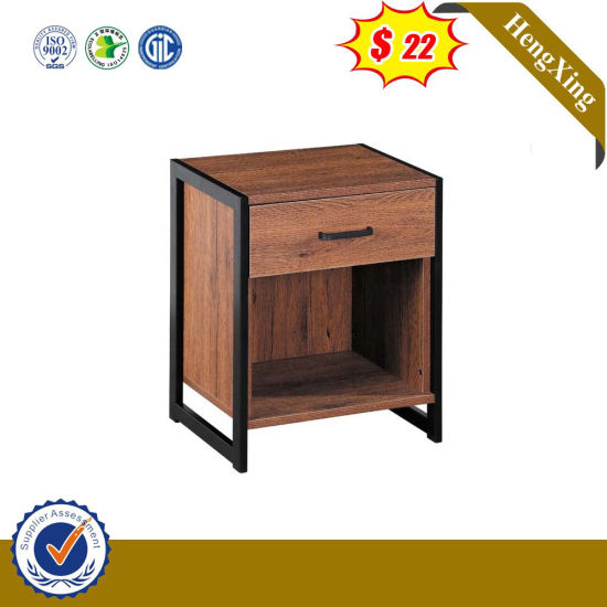 Nordic Minimalist Modern Bedside Table, Wrought Iron China Cabinet