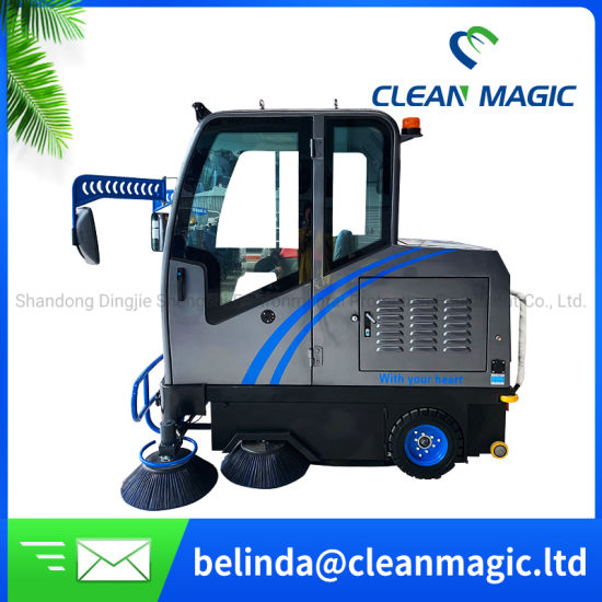 Clean Magic DJ2000A Electric Industrial Floor Sweeper Road Cleaning Machine Electric for Hospital/Warehouse/School/Hotel for Disinfecting/Sterilizing