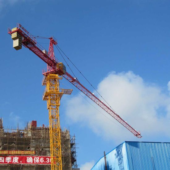 china sany syt100 t6515 6 construction tower crane boom length