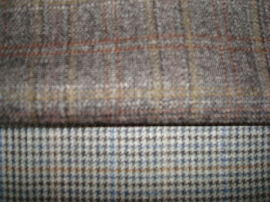 Wool Blend Check Suit Fabric pictures & photos