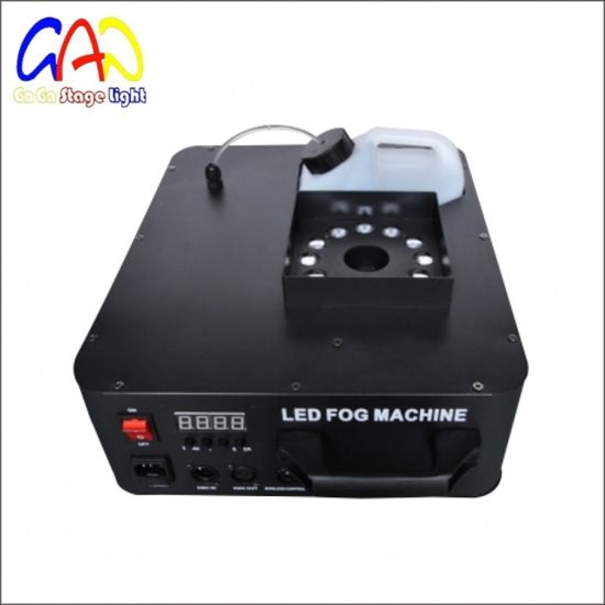 good effect 1500w fog machine with led color effect remote