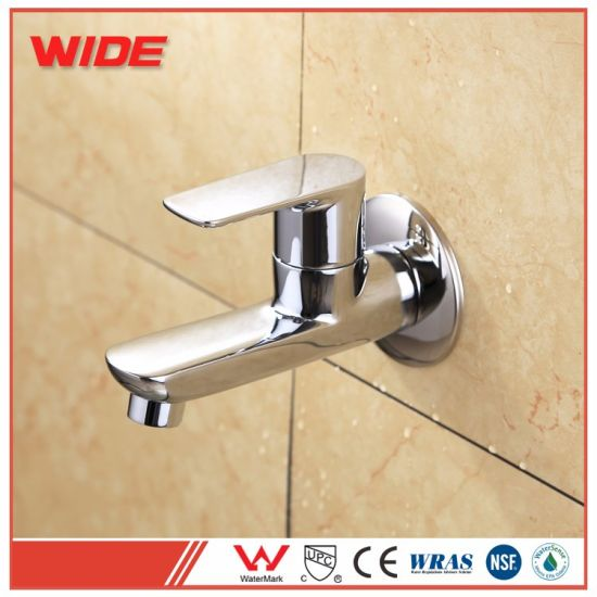 Cheap Wall Mounted Single Cold Basin Tap with Brass Chrome pictures & photos