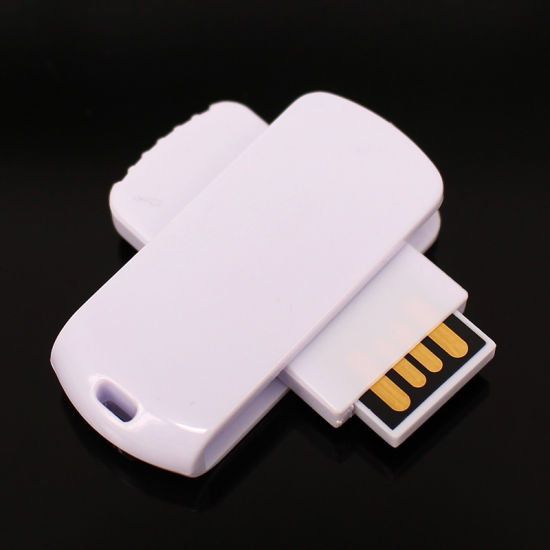 Custom Logo Swivel USB Flash Disk Flash Dirive (UL-P018) pictures & photos