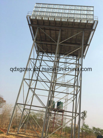 Steel Structure Support Frame for Galvanized Water Tank