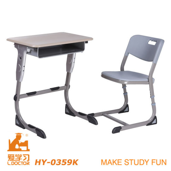 Stainless Tube of University Deks and Chair Furniture (Adjustable aluminuim) pictures & photos