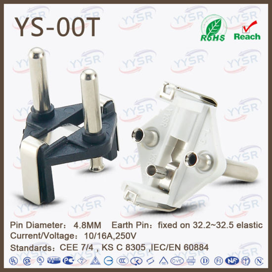 European Power Cord 2 Pin VDE Plug
