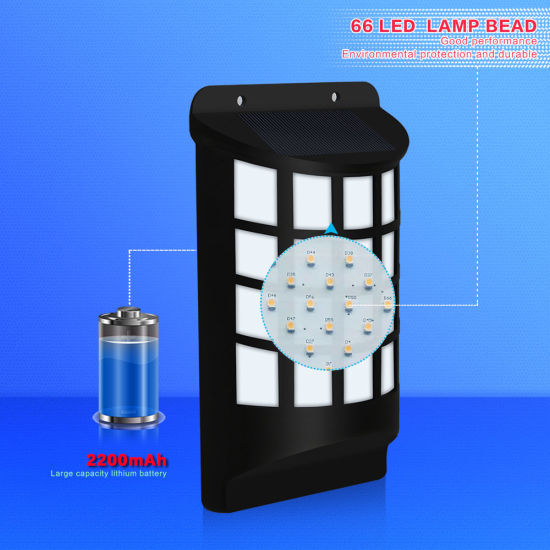 Solar Flame Flickering Lamp Solar Wall Light for Patio pictures & photos