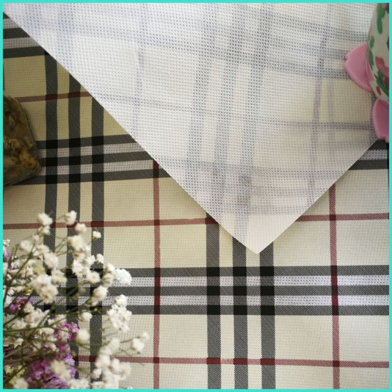 Eco-Friendly High Quality Customized Printed Nonwoven Backing Table Cloth pictures & photos