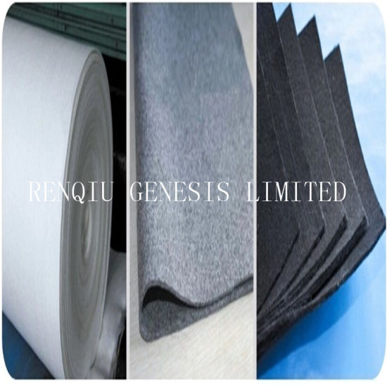 China Filter Fabric Non Woven Needle Punched Fabric Black