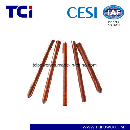 High Voltage Copper Bonded Ground Earthing Rod Supplier pictures & photos