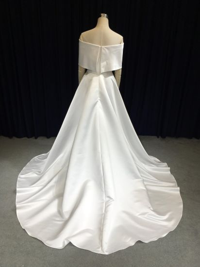 2019 Wedding Dress Bridal Gown Newly Fashion Satin Wedding Bridal Dresses pictures & photos