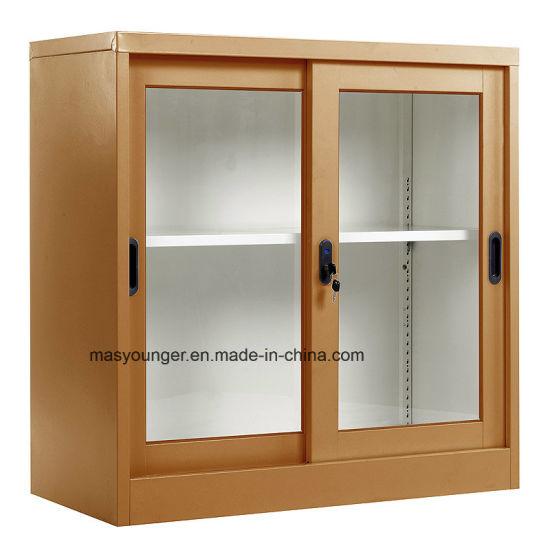 Steel Living Room Cabinet/4 Door Decorative Home Office Furniture Cheap  Corner Cupboard for Sale